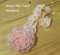 Shiera mini peach headband