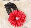 Red Gerbera Headband
