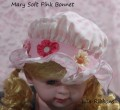 Mary Baby Pink Bonnet