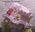 Mary Hot Pink Bonnet