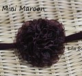Shiera Mini Maroon Headband