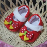 baby shoes red 35